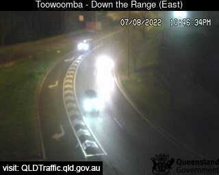 Webcam at Warrega Highway - Looking down to Toowoomba Range Redwood