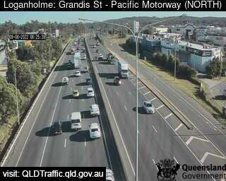 Webcam at Pacific Highway at Grandis Street Loganholme