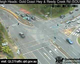 Webcam at Gold Coast Highway and Reedy Creek Road Burleigh Heads