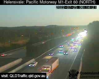 Webcam at Pacific Motorway M1 - Exit 60 Helensvale