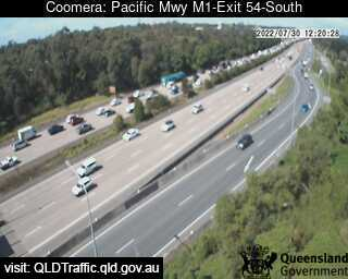 Webcam at Pacific Motorway M1 - Exit 54 Coomera