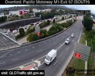 M1 Traffic Cameras Live >> Oxenford, QLD - Pacific Motorway M1 – Exit 57 traffic camera - South | Live Traffic Cameras in ...