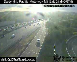 Webcam at Pacific Motorway M1 - Exit 24 Daisy Hill