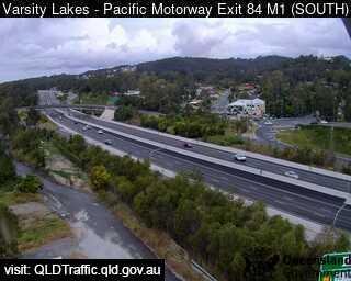 Webcam at Pacific Motorway M1 - Exit 85 Varsity Lakes
