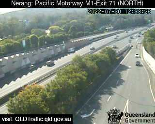 Webcam at Pacific Motorway M1 - Exit 71 Nerang