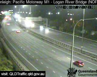 Webcam at Pacific Motorway M1 - Logan River Bridge Beenleigh