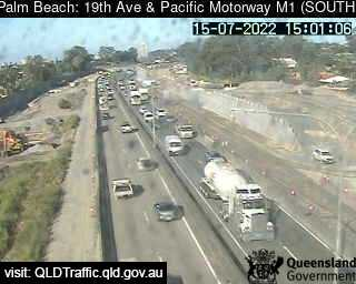 Webcam at 19th Avenue and Pacific Motorway - M1 Palm Beach
