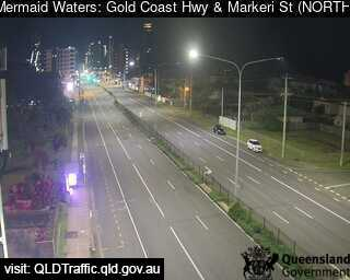 Webcam at Gold Coast Highway and Markeri Street Mermaid Waters