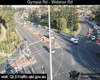 Webcam at Gympie Road - Webster Road Chermside