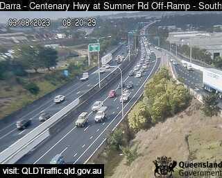 Centenary Motorway at Sumner Road Off-Ramp
