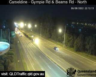 Webcam at Gympie Road and Beams Road Aspley
