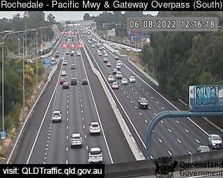 Webcam at Pacific Mwy and Gateway Overpass Rochedale