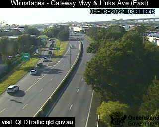 Webcam at Gateway Motorway and Links Avenue Eagle Farm