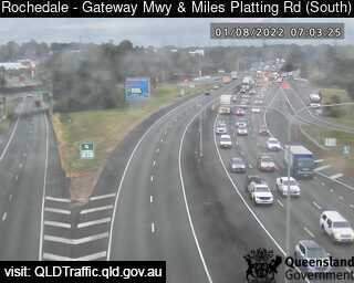 Webcam at Gateway Mwy and Miles Platting Road Rochedale