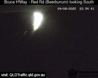 Traffic camera Bruce Hwy-Red Rd(Beerburrum) looking south - Caboolture Traffic, River Height and Weather Information
