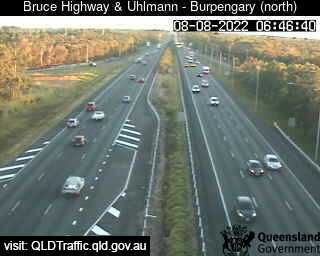 Traffic camera Bruce Highway - Burpengary - Uhlmann Road interchange (looking north) - Caboolture Traffic, River Height and Weather Information