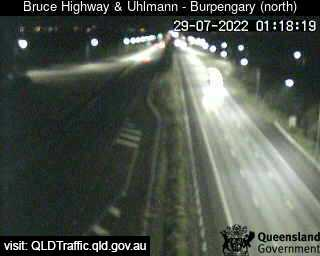 Webcam at Bruce Highway at Uhlmann Road interchange Burpengary