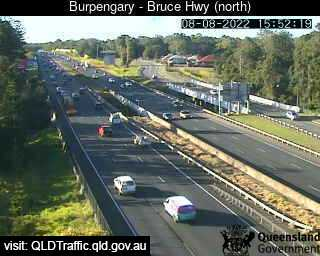 Traffic camera Bruce Highway - Burpengary, Station Road interchange (looking north) - Caboolture Traffic, River Height and Weather Information