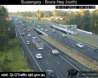 Webcam at Bruce Highway at Station Road interchange Burpengary