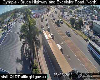 Webcam at Bruce Highway at Excelsior Road Intersection Gympie
