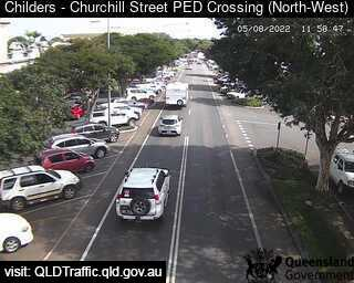 Webcam at Churchill Street Pedestrian Crossing Childers